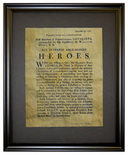 Loyalist Soldier Recruiting Poster, 1777, Framed