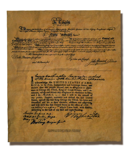 Oath Of Allegiance Of George Washington At Valley Forge