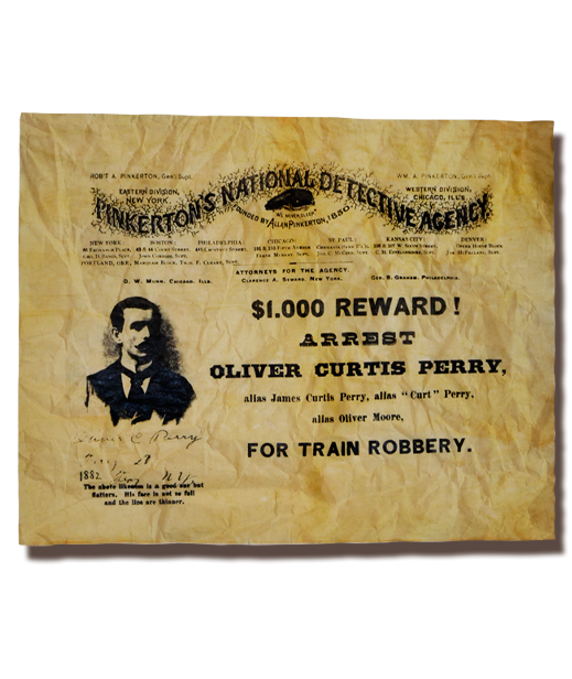 Oliver Curtis Perry Wanted Poster