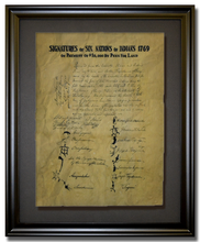 "William Penn land purchase from six nations of Native Americans - 1769 <br> (12"" x 16"")"
