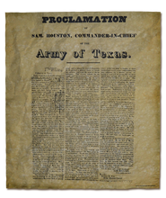 The Proclamation of Sam Houston