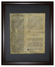 The Proclamation of Texas, Calling Texans to arms, Framed