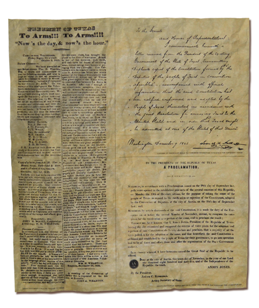 The Proclamation of Texas, Calling Texans to arms