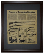 Weapons of the American Revolution, Framed
