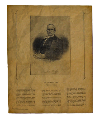 Sam Houston Biographical Sketch  1793 - 1863