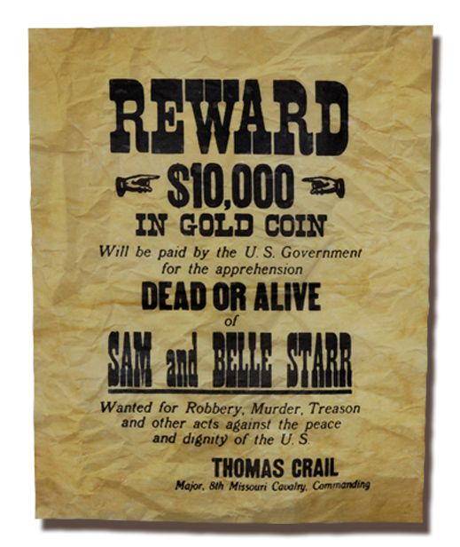 Sam and Belle Star Wanted poster