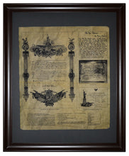 Deed of Gift for the Statue of Liberty, Framed