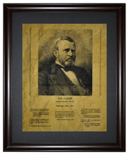 Thoughts from Ulysses S. Grant, Framed