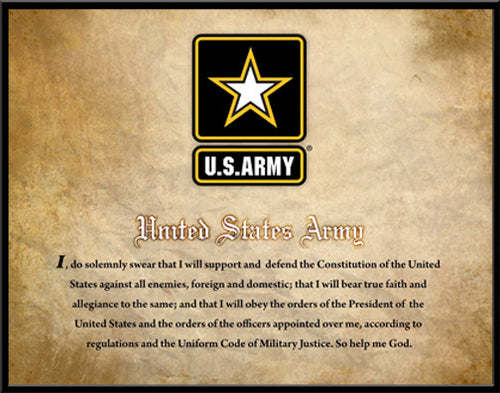 United States Army Oath, Officially Licensed Framed Print
