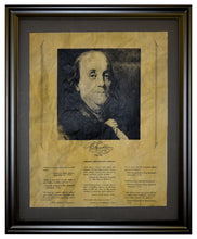 Thoughts from Benjamin Franklin, Framed
