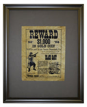 Black Bart Wanted Poster, Framed