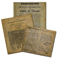 Texas Declaration of Independence, Proclamation of Sam Houston, Travis Letter
