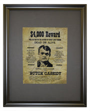 Butch Cassidy Wanted Poster, Framed