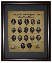 Chief Justices of the Supreme Court of the United States, Framed