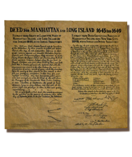 Deed For Manhattan And Long Island 1645 and 1649