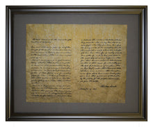 Abraham Lincoln, The Gettysburg Address - 1863, Framed