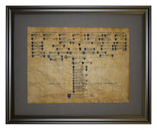 Family Tree Of George Washington, Framed