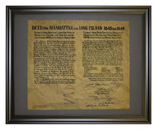 Deed For Manhattan And Long Island 1645 and 1649, Framed