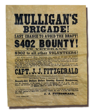 Mulligan's Brigade! Recruitment Poster, 1863