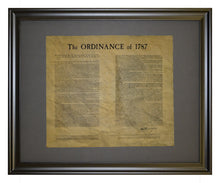 Ordinance Of 1787 (Northwest Territory), Framed