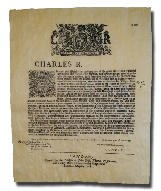 Deed to the Commonwealth of Pennsylvania 1681