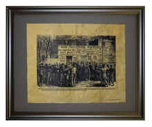 Recruiting in New York City's Hall Park - 1864, Framed