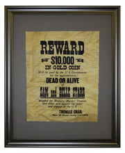 Sam and Belle Star Wanted poster, Framed