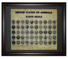 United States of America State Seals, Framed