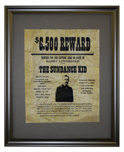The Sundance Kid Wanted Poster, Framed