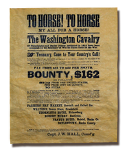 The Washington Cavalry Recruitment Poster - 1862