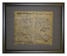 Travis Letter - 1836, Framed
