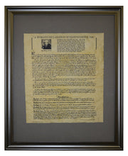 A Woman's Declaration of Independence - 1848, Framed