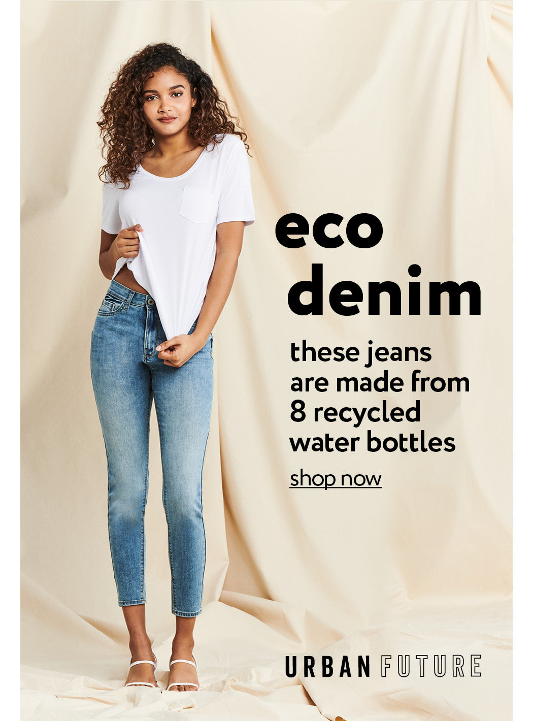 Urban Planet | Eco Denim - Made from 8 recycled water bottles - Shop Now
