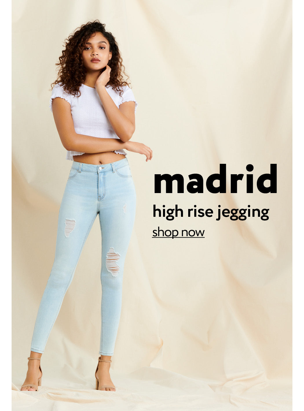 Urban Planet | Madrid - High rise jegging - Shop Now