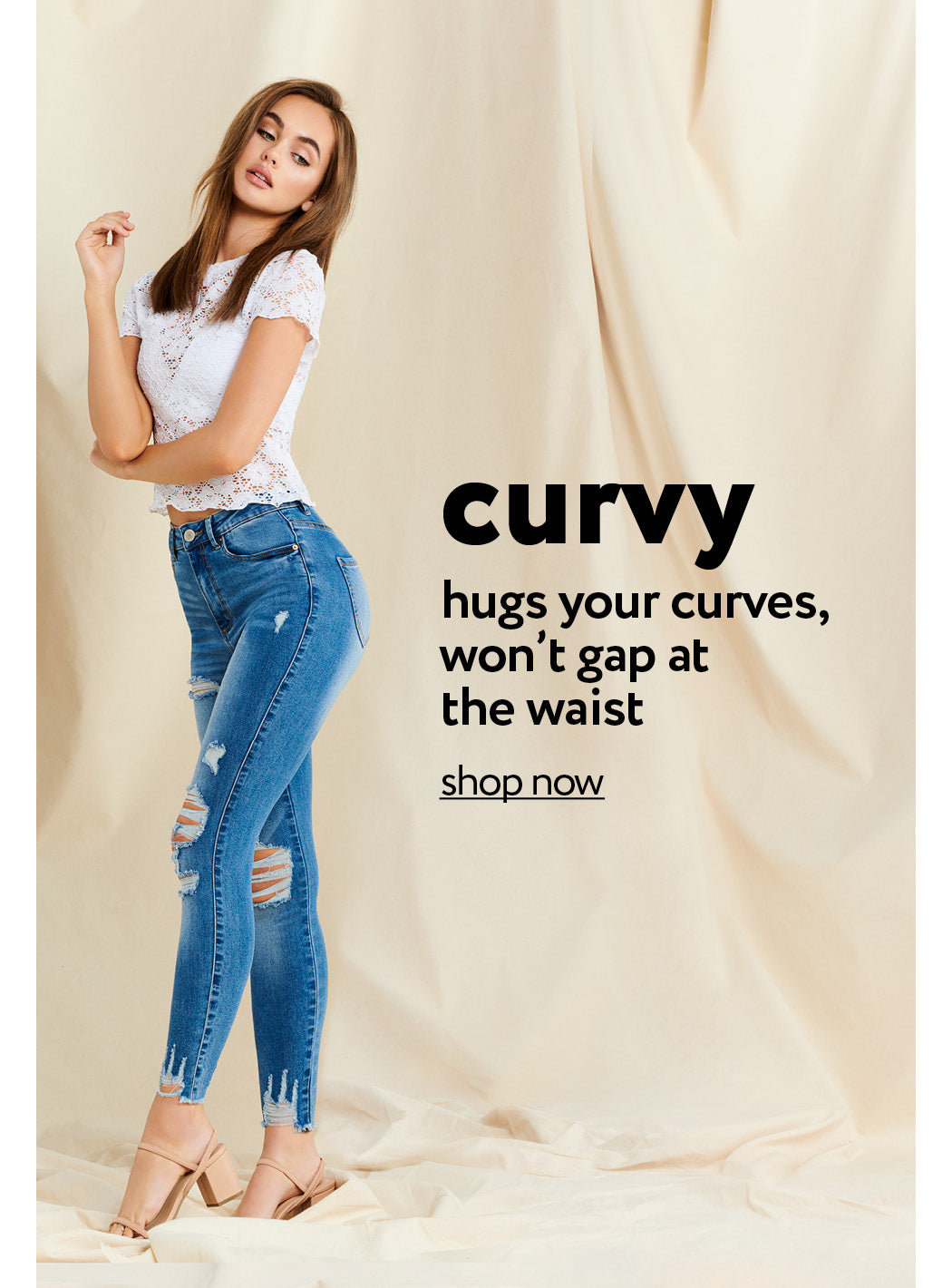 Urban Planet | Curvy - Hugs your curves, won't gap at the waist - Shop Now
