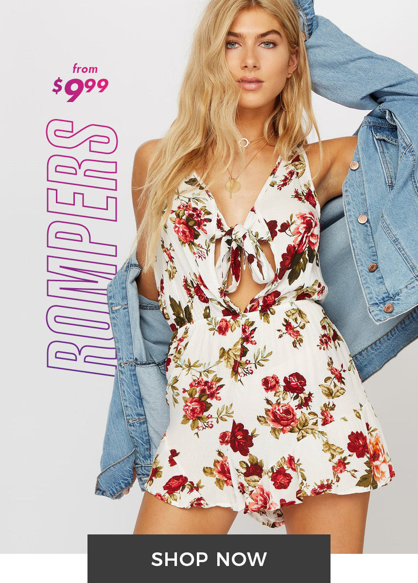 Rompers from $9.99 - Shop Now