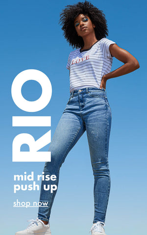 Urban Planet | Rio - Mid rise, push up - Shop Now
