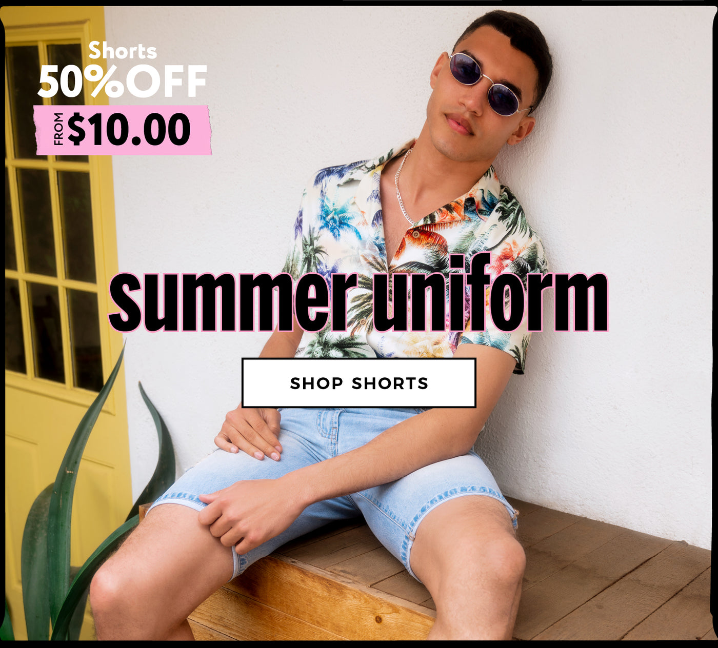 Urban Planet | Summer Uniform - 50% Off Men's Shorts- Shop Shorts