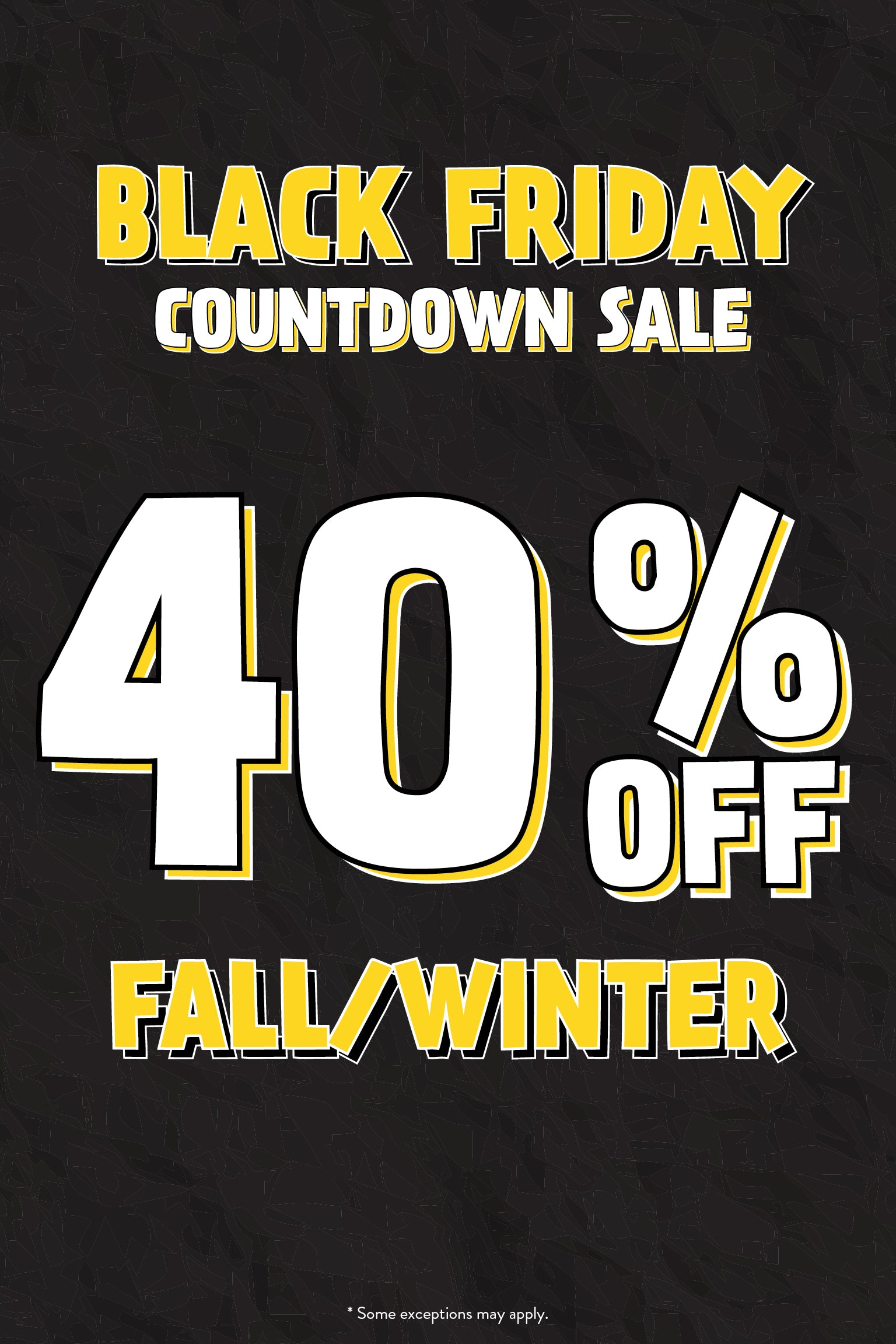 Black Friday Countdown Sale - 40% Off
