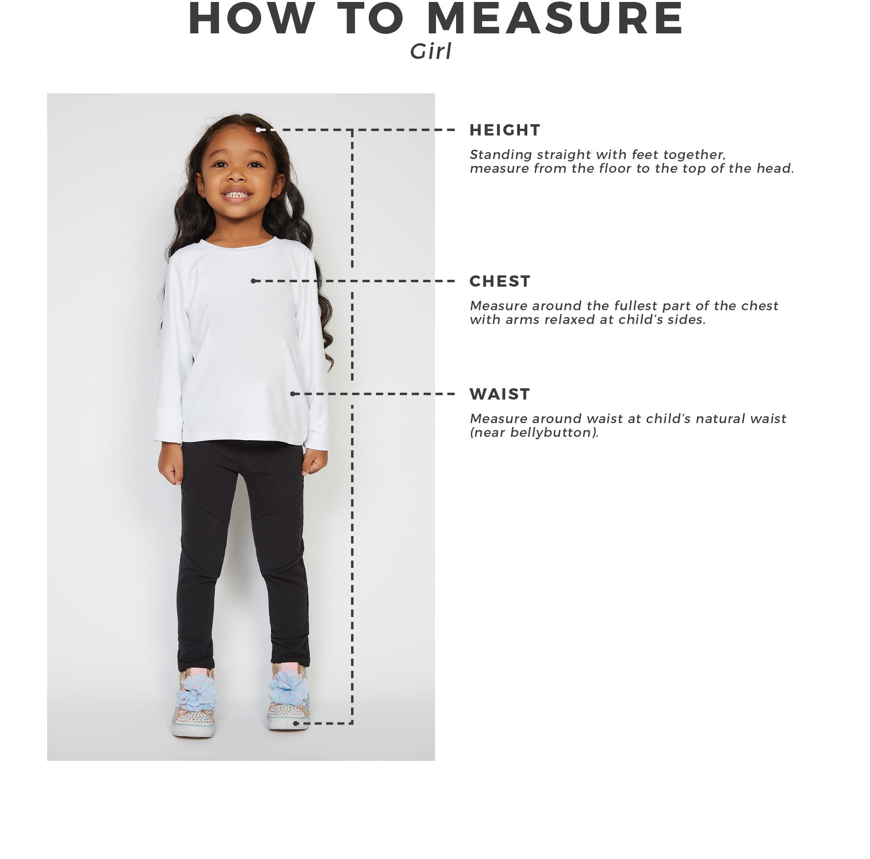 Urban Planet - Kids - Girls - How To Measure