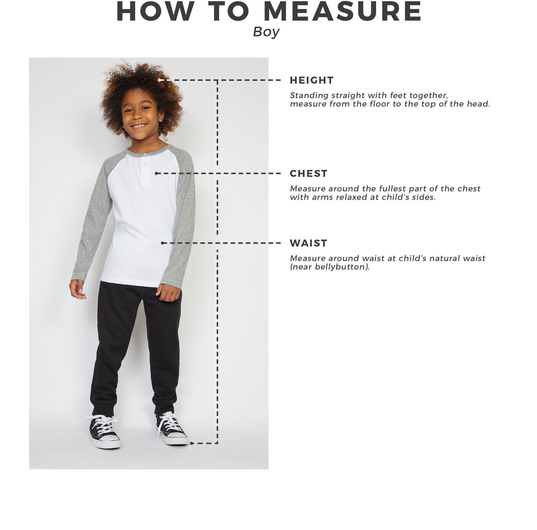 Urban Planet - Kids - Boys - How To Measure