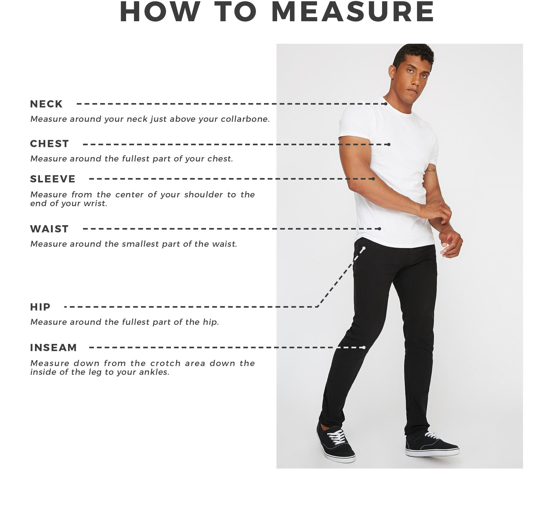 Urban Planet - Men's How To Measure