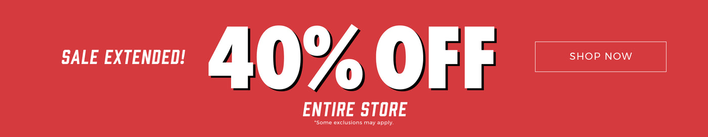 Sale Extended! 40% Off Entire Store - Shop Now