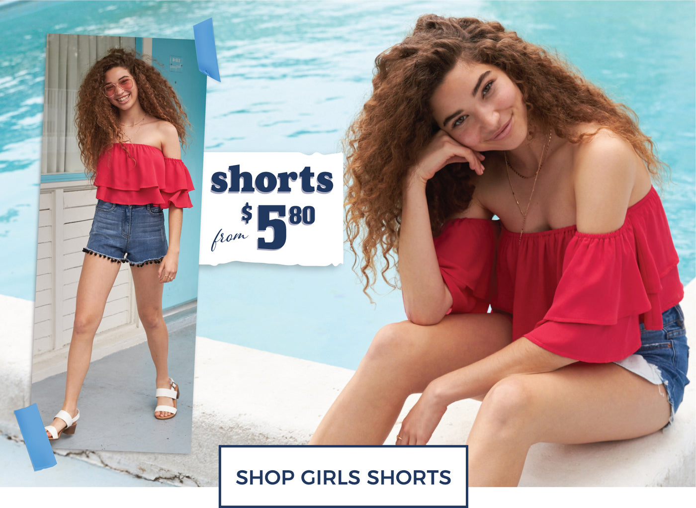 Shorts from $5.80 - Shop Girls Shorts