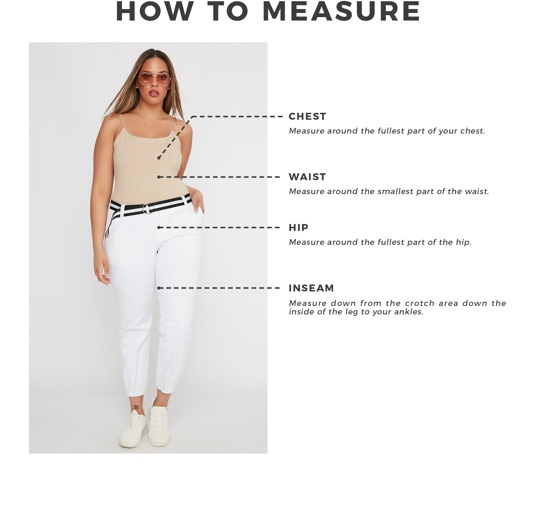 Urban Planet - Women's Plus - How To Measure