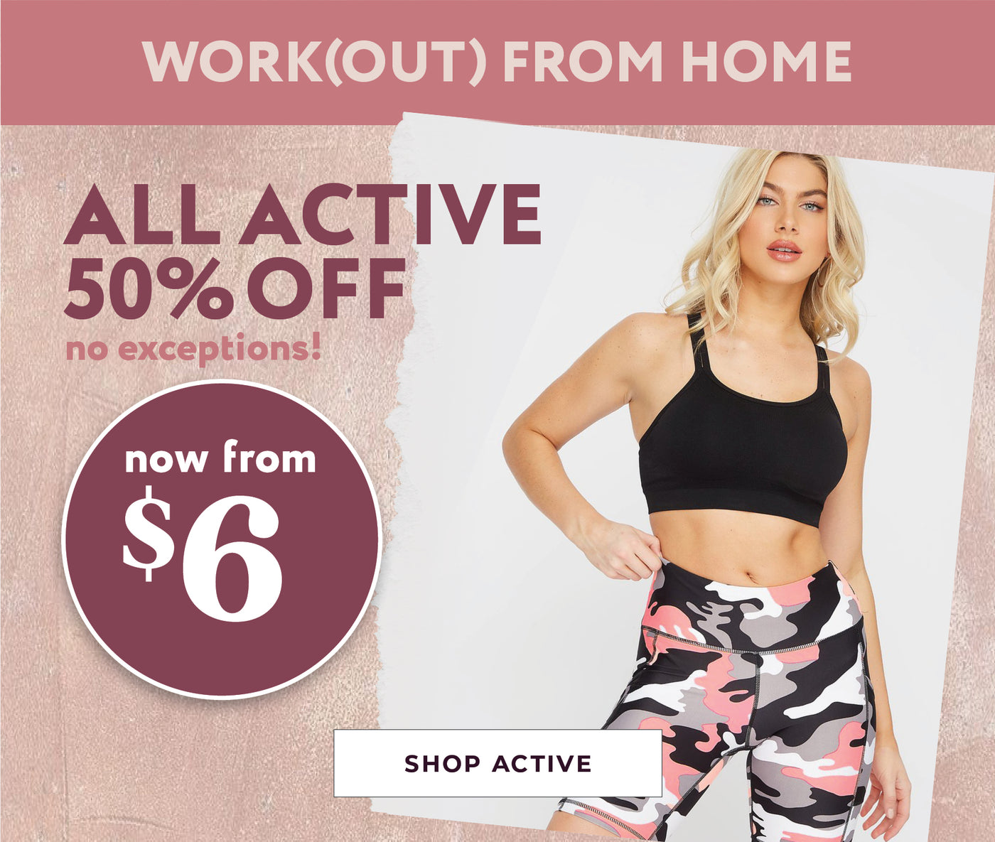 All Active - 50% Off - Now from $6