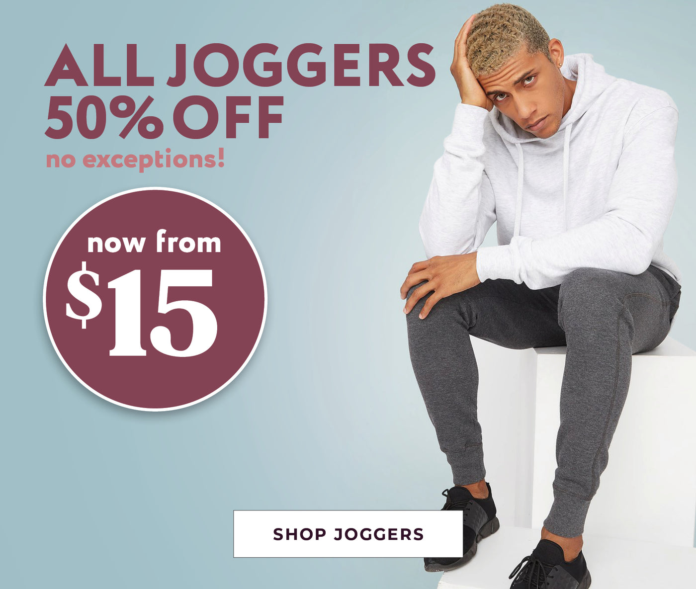 All Mens Joggers - 50% Off - Now from $15