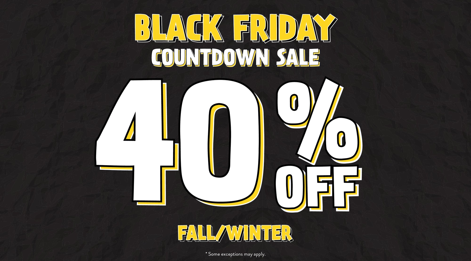 Black Friday Countdown - 40% Off