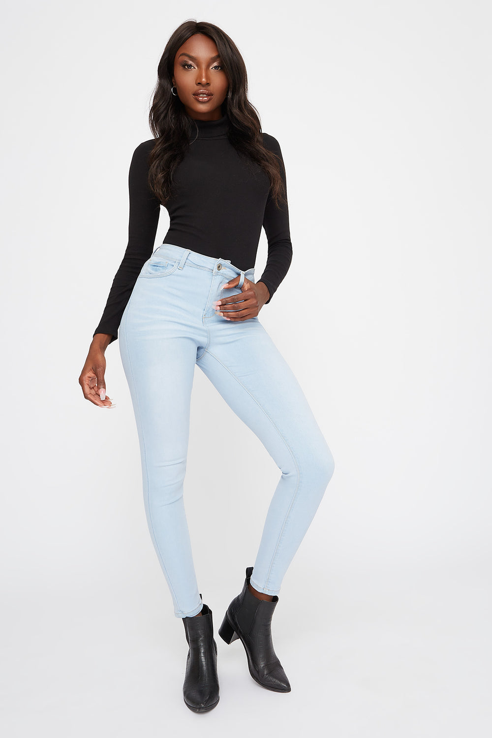 High-Rise Skinny Jean Light Denim Blue