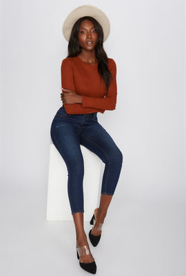 Butt, I Love You High-Rise Push-Up Cropped Skinny Jean
